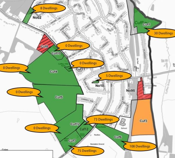 Proposed development sites
